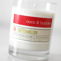 No. 110: WATERMELON // Natural Soy Candle // 13 oz // Highly Scented