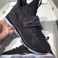 Best Online Sale Lebron XIV 14 Black White Red Zoom Air Basketball Shoes Sneaker