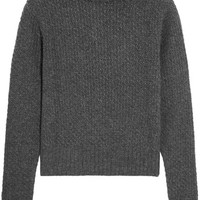 Frame - Textured wool and cashmere-blend sweater