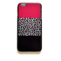 iPhone 6 Plus Case Leopard Print Pattern iPhone 6 Plus Hard Case Pink Black Back Cover iPhone 6 Plus Slim Case Girly Fun Animal Print 2187