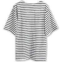 White Batwing Sleeve T-shirt With Stripe - Choies.com