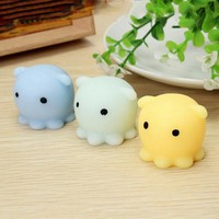 Hot Cute Octopus Squishy Squeeze Healing Kid Toy Gift Stress Reliever Decor Stretch Japan Mochi Squeeze With Box Toy