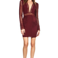 Stroke of Midnight Dress - Wine - FINAL SALE