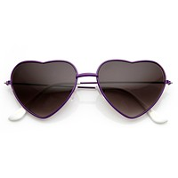 Cute Metal Heart Shape Love Lolita Sunglasses 8737