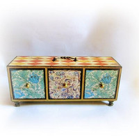 Chest of Drawers Makeup Organizer Wooden Cosmetics Stand Jewelry Box Drawer Desktop Chest Apothecary Cabinet Organizer Back to School