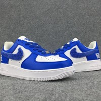 Women's and Men's NIKE AIR FORCE 1 MID 07 cheap nike shoes blue 035