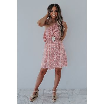 Falling In Love Dress: Blush/Ivory