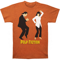 Pulp Fiction Men's  Dance Contest Slim Fit T-shirt Heather
