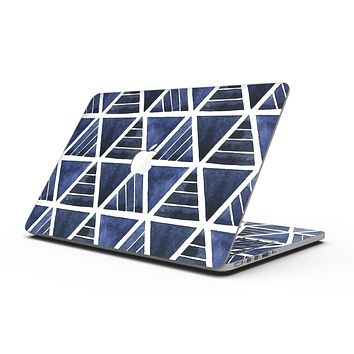 The Blue Triangluar Aztec Pattern - MacBook Pro with Retina Display Full-Coverage Skin Kit