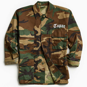 2Pac All Eyez Camo Field Jacket - Urban Outfitters