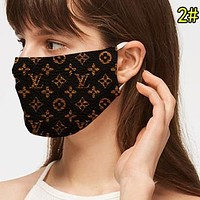 LV Louis Vuitton Fashion Women Men Breathable Classic Print Mask 2#