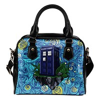 Dr Who Tardis Starry Night Shoulder Handbag