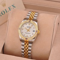 Rolex Women's Waterproof Quartz Watch Fashion Stainless Steel Stopwatch Classic Business Wrist Watch