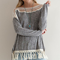 Warm Woods Long Sleeve High Low Sweater