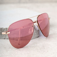 Miami Heat Gold and Pink Mirrored Aviator Sunglasses