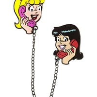 Riverdale - Betty & Veronica Girl Talk Chained Pin Set (Color)