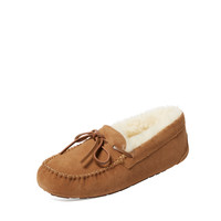 Atwell Women's Ainsley Suede & Sheep Fur Moccasin - Brown -