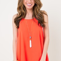 Summer Side Of LIfe Hot Orange Top