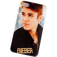 niceEshop(TM) Cool Justin Bieber Snap on Hard Case Cover for iPhone4 4G 4S +Screen Protector