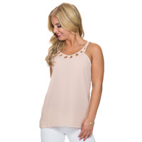 Take You There Blouse In Nude
