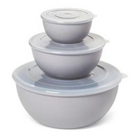 Plastic 3pc Bowl Set with Lid - Room Essentials™