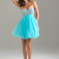 Night Moves 6487 Blue Cocktail Dress