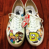 Nickelodeon Themed Custom Vans