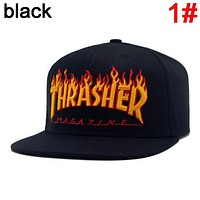 Thrasher New fashion embroidery flame letter couple cap hat 1#