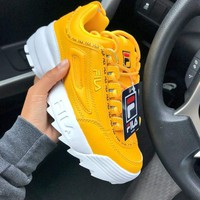 Fila Disruptor 2 2018 new thick-soled lace-up retro sneakers sneakers