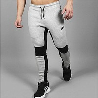 Men Tapered Joggers Gym Wear Sweat Trousers Slim Fit Bottoms