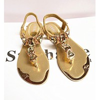 Women Sandals Hot Fashion Rhinestone Shoes Women Sandals Clip Toe Women Shoes Sandalia Feminina