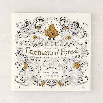 Enchanted Forest: An Inky Quest & Coloring Book By Johanna Basford