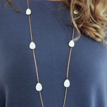 Where You Belong Necklace: Gold/Ivory
