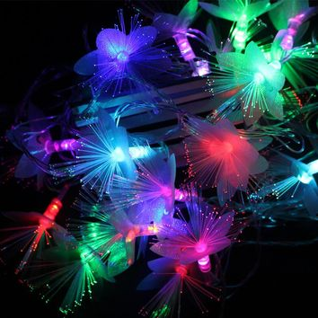 String Light led Xmas 5M Flower LED Christmas Tree Lights for Home Outdoor Fairy Garden Ornaments Pendant Garland US EU Plug