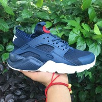 Best Online Sale Nike Air Huarache 4 Rainbow Ultra Breathe Men Women Hurache Blue Running Sport Casual Shoes Sneakers - 107