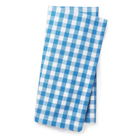 One Kings Lane - All Fired Up - S/4 Beach Check Napkins, Azure