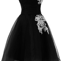 Sunvary Organza and Lace Short Homecoming Cocktail Dresses Bridesmaid Dress