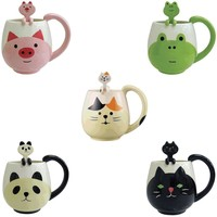 Cute Animal Coffee Mug with Spoon Set