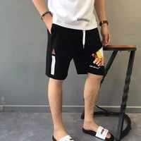 HCXX 19June 113 19SS Off White Sprint medicine box in hand Men's and women's casual shorts and beach pants