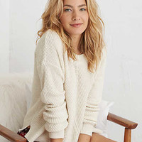 Aerie Pullover Sweater , Heather Frost