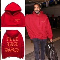 I Feel Like Pablo Hoodies Saint Pablo Tour  Man And Women High Street Skateboard Sweatshirt Kanye West High Street Hip Hop Mens