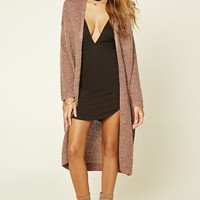 Ribbed Knit Longline Cardigan