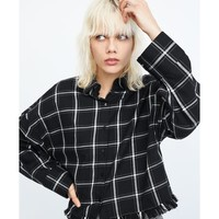 FRAYED CHECKED SHIRT DETAILS