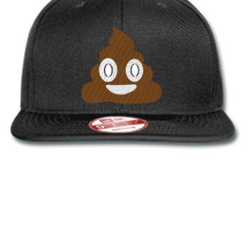 emoji shit embroidery hat - New Era Flat Bill Snapback Cap
