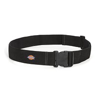 Dickies Work Gear 57013 Dickies Heavy-Duty Work Belt, Holds Most Pouches, Clips, and Tool Holders for Woodworkers and Contractors, 2-Inch Web, Adjustable, Black