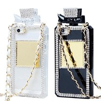 Iphone 6 Case,tobestronger Diamond Crystal Perfume Bottle Shaped Chain Handbag Case Cover for Iphone 6 Plus 5.5 Inch (Black)