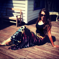 "The Groovy Blueberry Women's Tie-dye ""Black Magic"" Yoga Skirt"