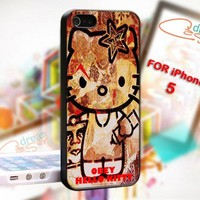 Obey hellokitty - design for iPhone 5 Black case