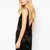 Solace London Holly Plunge Neck Dress with Low Cowl Back