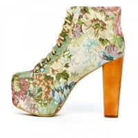 Cold Feet by Jeffrey Campbell 'Lita Tapesty', floral - Ashbury Skies